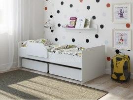 Кровать детская Легенда 27.1 белая