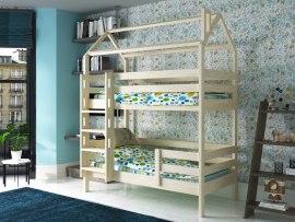 Кровать двухъярусная- домик из массива дерева Vita Mia Arcobaleno-2 ( Радуга-2 )