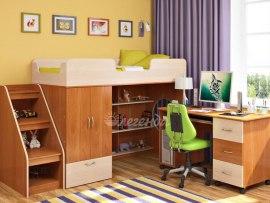 Кровать чердак Легенда 3.3 ( с письменным столом )