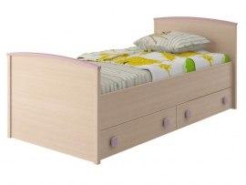Кровать Интеди детская ИД 01.94 Pink (с выдвижными ящиками)