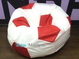 Кресло Мешок Мяч Бело - Красный Оксфорд