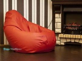 Кресло мешок ( красная экокожа )