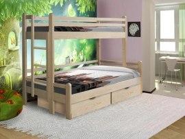 Двухъярусная трехместная кровать из массива дерева Vita Mia Орленок
