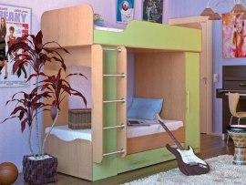 Кровать двухъярусная Карлсон Дуэт 2 ( с возможностью увеличения спального места )