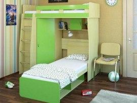 Двухъярусная кровать чердак Карлсон М3 ( со шкафом )