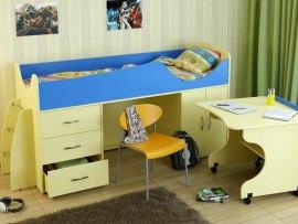 Кровать чердак Карлсон Мини 4 ( с выкатным столом )