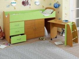 Кровать чердак Карлсон Мини 5 ( с выкатным столом )