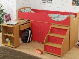 Кровать чердак Карлсон Мини 7 ( с выдвижными ящиками )