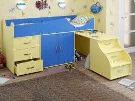 Кровать чердак Карлсон Мини 10 ( с лестницей - столом )