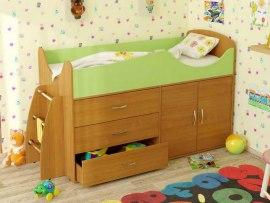 Кровать чердак Карлсон Микро 201 ( с ящиками )