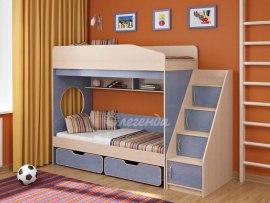Кровать двухъярусная для детей Легенда 10.3 ( с выдвижными ящиками )