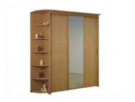 3-х дверный шкаф-купе Орматек с 1 зеркальной дверью и угловым терминалом
