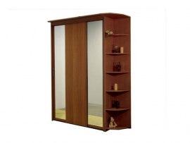 3-х дверный шкаф-купе Орматек с 2 зеркальными дверями и угловым терминалом