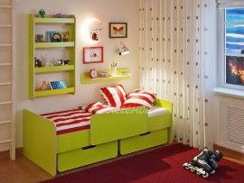 Кровать детская Легенда 14.1 с полками