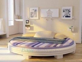 Кровать круглая из массива дерева Vita Mia Арена 2 с матрасом