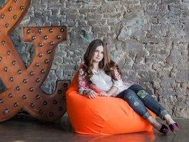 Кресло мешок Фьюжн Оранжевое ( съемный чехол )