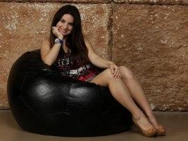 Кресло Мешок Мяч Черный Экокожа