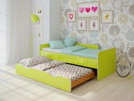 Кровать детская выдвижная Легенда 14.2 ( с дополнительным спальным местом )