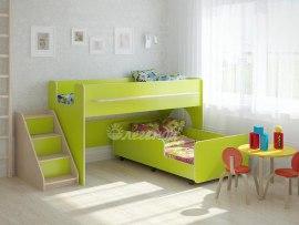 Детская выкатная двухъярусная кровать Легенда 23.4