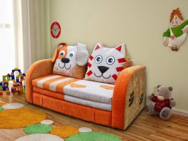 Детский раскладной диван М-Стиль Кот и Пес