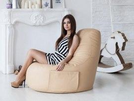 Кресло мешок Comfort Creme ( экокожа )