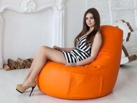 Кресло мешок Comfort Orange ( экокожа )