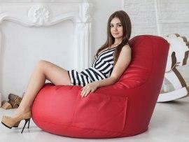 Кресло мешок Comfort Cherry ( экокожа )