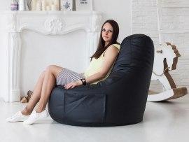 Кресло мешок Comfort Black ( экокожа )