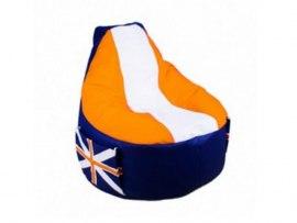 Кресло мешок Comfort Britain Orange ( экокожа )