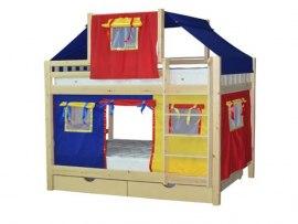 Детская двухъярусная кровать домик из массива дерева Vita Mia Gnom (Гном)