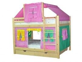 Детская двухъярусная кровать - домик из массива дерева Vita Mia Белоснежка