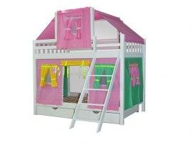 Детская двухъярусная кровать - домик из массива дерева Vita Mia Фея