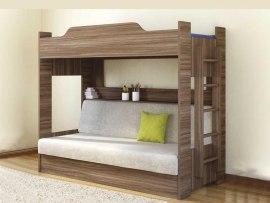 Двухъярусная кровать с диваном Боровичи-Мебель