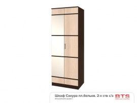 Шкаф двухдверный BTS Сакура с зеркалом