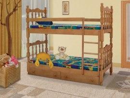 Кровать детская двухъярусная из массива дерева Vita Mia Шрек 2