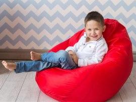 Детское кресло мешок Красное