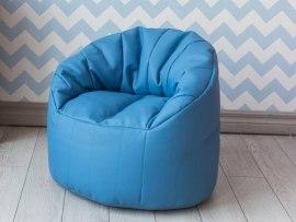 Детское кресло пенек Австралия светло голубой