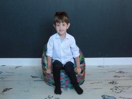 Детское кресло пенек Маракеш бирюзовый