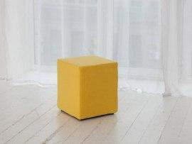 Пуфик DB Валенсия желтый ( экокожа )