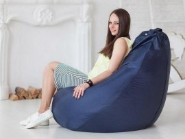 Кресло мешок Оксфорд тёмно - синее