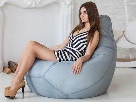 Кресло мешок оксфорд Серое