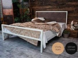 Кованная кровать Francesco Rossi Лоренцо с мягким изголовьем