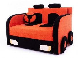 """Детский раскладной диван - кровать Малина Машинка подушка """"Руль"""""""