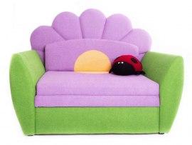 Детский раскладной диван - кровать Малина Цветочек
