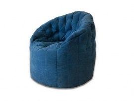 Кресло пенек Австралия синий ( велюр )