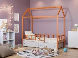 Кровать - домик Риччи металлическая с ящиками