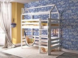 Кровать-чердак домик из массива дерева Vita Mia Arcobaleno-4 ( Радуга-4 )
