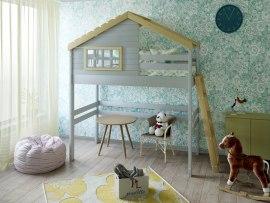 Кровать - домик чердак PinoLetto Lordy ( Лорди )