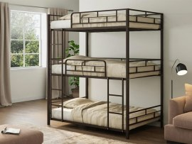 Кровать трехъярусная металлическая Эверест