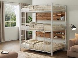 Кровать трехъярусная металлическая Эверест с полками